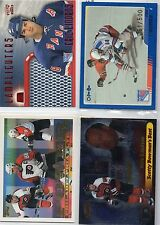 4-eric lindros insert card lot rangers flyers w/ 2003/04 o-pee-chee blue /500 +