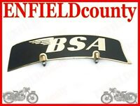 NEW VINTAGE FRONT MUDGUARD BRASS NUMBER PLATE BSA BIKE SPARES2U