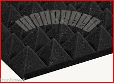 "3""x 12""x 12""Pyramid SoundProofing Echo Blocking Acoustic Wall Foam Studio Panels"