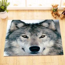 "15X23"" Kitchen Bathroom Floor Non-Slip Mat Rug Toilet Carpet strong Wolf In Snow"