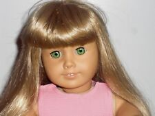 AMERICAN GIRL JUST LIKE YOU * TRULY ME* DOLL BLOND HAIR WITH BANGS, GREEN EYES