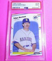 EDGAR MARTINEZ 1988 Fleer #378 PSA 9 MINT rookie card (RC) HOF ,