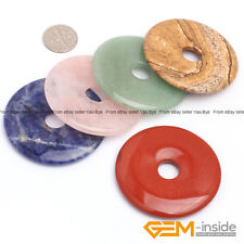 Natural 50mm Donut Gemstone Beads For Jewelry Making 1 Piece Thickness 5-9mm