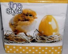 """EASTER Luncheon Napkins 40 Ct 3-Ply  13"""" X 13""""  EASTER CHICK IN NEST"""