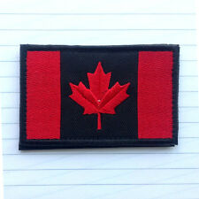 CANADA FLAG CANADIAN MAPLE LEAF RED DARK MILITARY TACTICAL MORALE PATCH BADGE