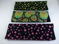 ~LOT of THREE~  Various Neoprene Eyeglass Soft Reading Glass Cases A32