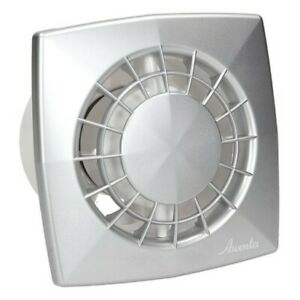Satin Bathroom Extractor Fan 125mm with Timer Toilet Ventilator with Delay