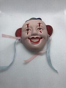 Clown Ceramic Mask Wall Decor