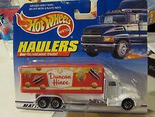 Hot Wheels Haulers over the Road Trucks! Duncan Hines