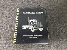 1968-1970 Kenworth K125 Semi Truck Tractor Service Repair Manual 1969 Original