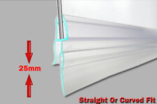 Curved Bath Shower Screen Rubber Plastic Seal 4-6mm Glass Door Flat Gap Enclosur