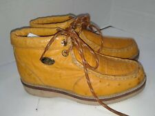 El General ostrich Ankle Boots Chukka Laces Mens Size 6