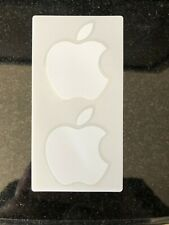 2 White Apple Logo Stickers - from iPhone with free shipping
