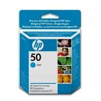 GENUINE AUTHENTIC HEWLETT PACKARD HP 50 CYAN INK CARTRIDGE 51650CE