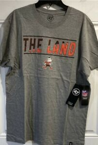 Cleveland Browns '47 Brand t shirt legacy vintage throwback logo The Land new