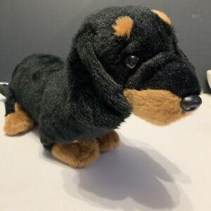 """Animal Alley Dachshund Black - Brown Puppy Dog Plush Stuffed 17"""" Long Toys R Us"""