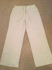 DEBENHAMS Casual Club Women's Beige Viscose Trousers (size UK12)