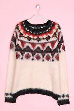 Bershka Knitwear-cuerda-Jersey l neutral-tonos opaca Top