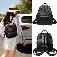 Women Lady Soft Faux Leather Backpack Travel School Shoulder Bag Purse Rucksack