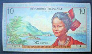 FRENCH ANTILLES ~ 10 FRANCS 1964 f.