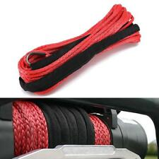 """Red 3/16"""" x 50"""" Synthetic Winch Line Cable Rope 5800 LBS Capacity with Sheath"""
