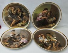 JKW  West Germany set of 4 scenes LARGE plates 12-1/2""