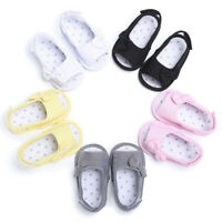 Newborn Toddler Girl Soft Sole Bowk Sandals Shoes Baby Crib Cloth Prewa L9T8