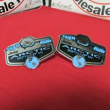 Jeep Wrangler & Liberty TWO 2 Arctic blue nameplate emblem badge NEW OEM MOPAR