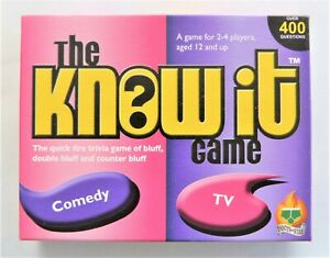 Pants on Fire Games The Know It Game Comedy and TV Suits Age 12+ 2011
