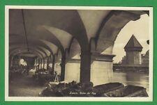 Luzern um 1920  Unter der Egg Wasserturm Turm Kolonnade Obst Gemüse Samen Markt