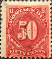 Scott #J67 US 1917 50 Cents Postage Due Stamp XF LH