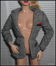 TOP BARBIE DOLL MODEL MUSE SINATRA HOUNDSTOOTH BLAZER JACKET CLOTHING ACCESSORY