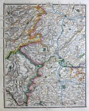 SHROPSHIRE SHREWSBURY LUDLOW HEREFORD LEOMINSTER BY JOHN CARY ANTIQUE MAP  c1822