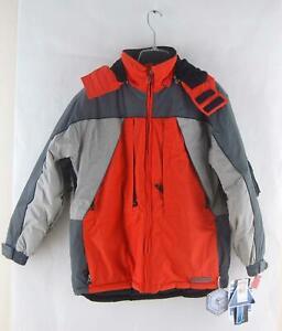Snozu Hooded Boys Youth Winter Ski Snow Jacket XL (18-20) Orange Gray