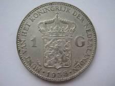 Netherlands 1938 silver 1 Gulden VF cleaned