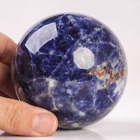 633g 79mm Large Natural Sodalite Quartz Crystal Sphere Healing Ball Chakra