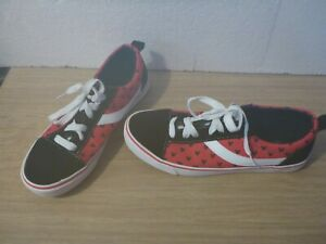 Disney Mickey Mouse Red Polka Print Women's Trainer Canvas Shoes Size UK 7