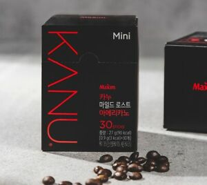KANU Mini Mild Roast Americano Korean Instant Coffee Mix - 30 / 60 / 90 Sticks