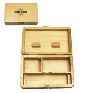 Dreh-Box aus Holz Rolling Tray Aufbewahrungsbox Drehhilfe Drehtablett 15x10 cm