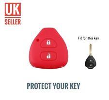 Red Silicone Flip Key Cover Fob For RAV4 COROLLA PRADO CAMRY HILUX /-ci4a-/