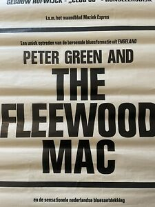 """Peter Green And""""The"""" Fleetwood Mac 1968  Poster The Netherlands.RARE"""