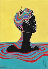 original painting A4 511KV art samovar surrealism acrylic women Signed 2021