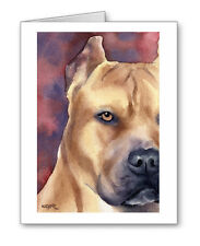 PIT BULL TERRIER Set of 10 Note Cards With Envelopes