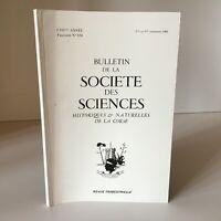 Boletín de La Société Las Ciencias Históricos Y Naturales Corse N º 654 1988