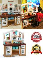 Realistic Sounds Kitchen Play Set Pretend Baker Toy Cooking Playset Accessories