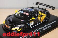 1/43 2015 AUDI R8 LMS BATHURST 12 HOUR 2ND PHOENIX RACING SPARK APEX AUSTRALIA