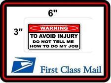 Toolbox STICKER Funny Warning Sticker - TO AVOID INJURY