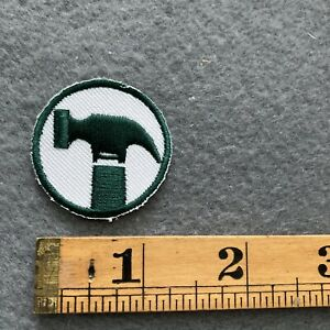 Green & White Hammer Patch C8