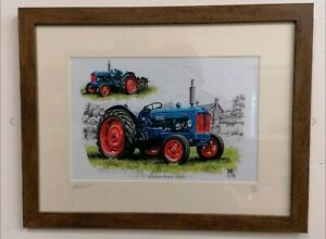 3 Picture Prints Deal A4 Size Fordson Major Roadless Ford Force Tractors Framed