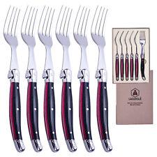 6 LAGUIOLE Gabeln-Set Black/Red  im Geschenk-Set Gabel Fork Forks NEU